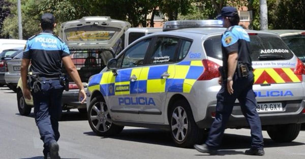 Agentes de policía de Alcorcón.