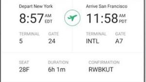 Imagen de la aplicación de viajes Tripit.