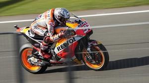 Marc Márquez (Honda) ha vuelto a ser hoy el mejor en los últimos test de Valencia.