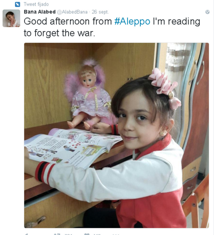 Bana Alabed, la niña que 'tuitea' contra la guerra desde Alepo