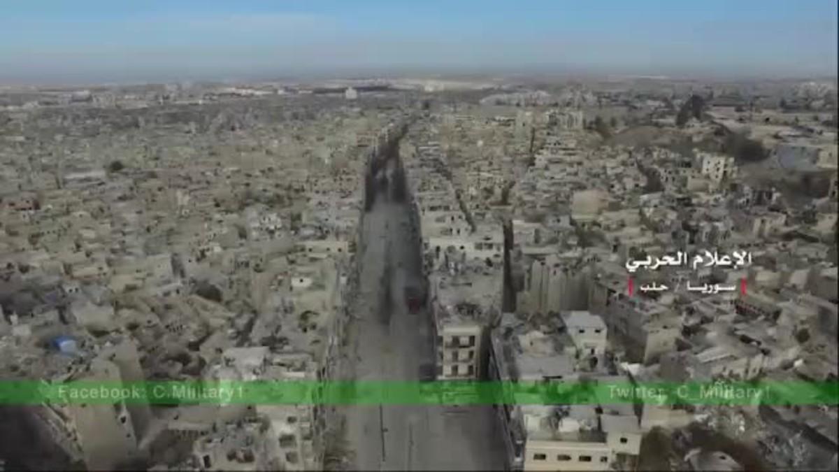La destrucció d'Alep, a vista de dron
