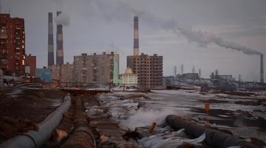 Área industrial en Norilsk.