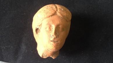 La cabeza encontrada en Gavà.