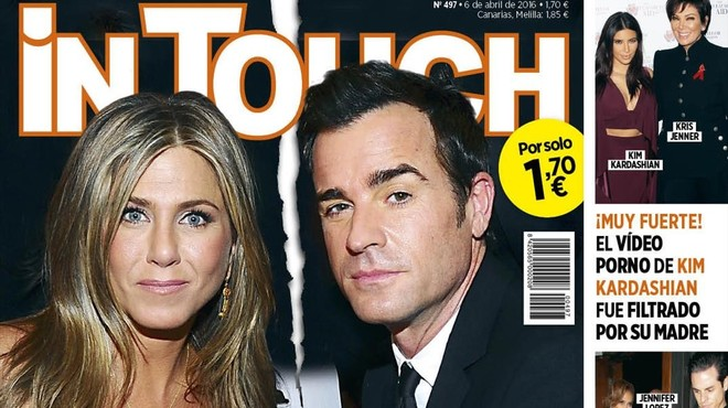 'In Touch' revela la separació silenciosa d'Aniston i Theroux