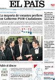 Los espa�oles prefieren un pacto de Gobierno PSOE-C's, seg�n un sondeo de El Pa�s