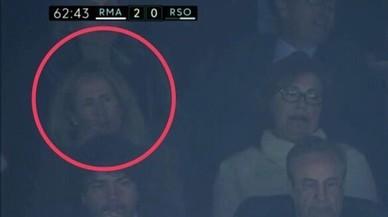 Marta Silva, l'exadvocada que va impulsar la condemna de Messi, a la llotja del Bernabéu