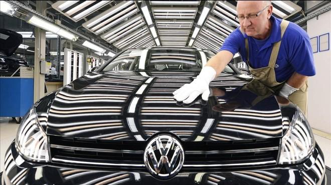 Planta de producci�n del Volkswagen Golf.