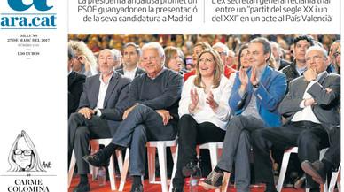 """Susana Díaz copa les portades amb la """"vella guàrdia"""" del PSOE"""