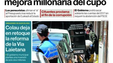 """""""El PNB exigeix a Rajoy més autogovern econòmic"""", titula l''Abc'"""