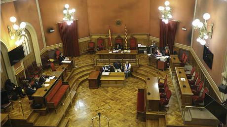 Sala del Jurado de la Audiencia de Barcelona