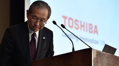 Satoshi Tsunakawa, presidente de Toshiba, este 14 de marzo del 2017.