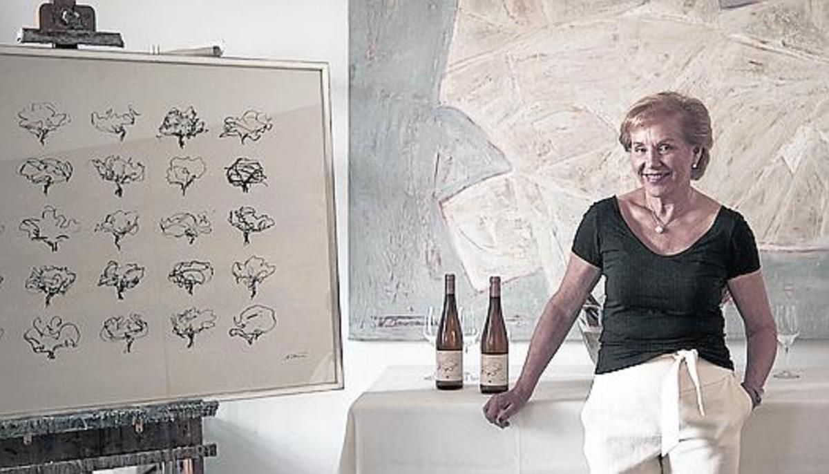 Arte para la etiqueta del vino Waltraud