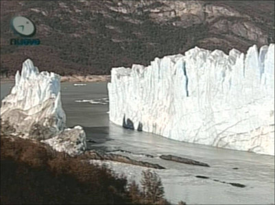 El glaciar Perito Moreno, después de la ruptura.
