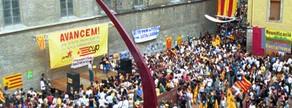 El Fossar de les Moreres, en la Diada del 2002.