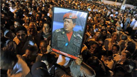 Manifestación en memoria de Chávez.