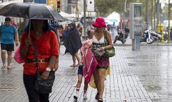 Lluvia en Barcelona en un verano anterior.