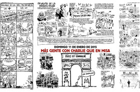 Las viñetas de la primera edición de Charlie Hebdo tras el atentado
