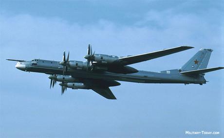 Bombardero ruso Tu-95 'Bear'.