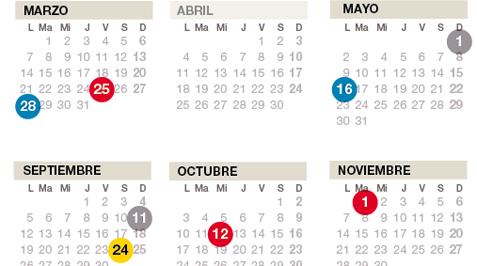 El calendario laboral de Catalunya del 2016 incluye 12 festividades
