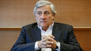 Antonio Tajani, durante la entrevista