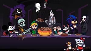 Ilustraci�n de varios personajes�de las 'creepypastas'.