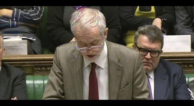 Captura de un video que muestra a Corbyn hablando en la C�mara de los Comunes, el jueves.