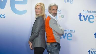Imanol Arias y Ana Duato, protagonistas de la serie de TVE 'Cu�ntame c�mo pas�'.