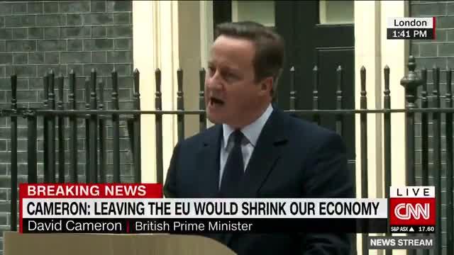 Cameron, en un emotiu discurs a la nació, avisa que la sortida de la UE seria 'irreversible'