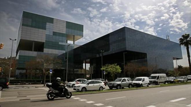 Exterior de la nueva sede de la hacienda catalana en la Zona Franca.