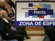 Imagen de una oficina de la Agencia Tributaria durante una campaña de la declaración de la renta.