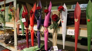 Les floristeries preveuen repetir els 6 milions de roses venudes el Sant Jordi passat