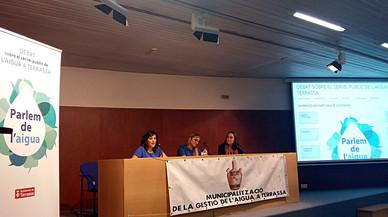 Jornada sobre modelos de participaci�n ciudadana en relaci�n al servicio p�blico del agua celebrada en Terrassa.