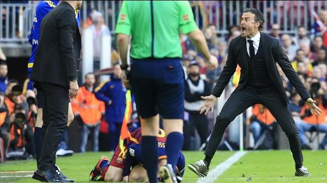 "Luis Enrique: ""M'he espantat amb l'entrada de Filipe Luis a Messi"""