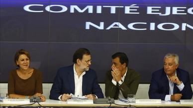 Mariano Rajoy y varios integrantes de la c�pula del PP en la reuni�n delcomit� ejecutivo conservador.