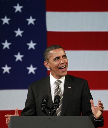 Obama sorprende y canta una canci�n en p�blico