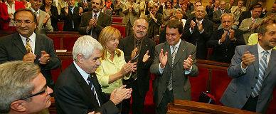 El Parlament celebra el acuerdo por el Estatut, en septiembre del 2005.