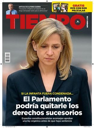 Las Cortes pueden quitar los derechos sucesorios a la infanta Cristina