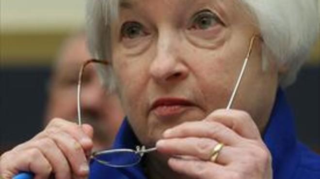 La presidenta de la Reserva Federal, Janet Yellen, ayer, en Washington.