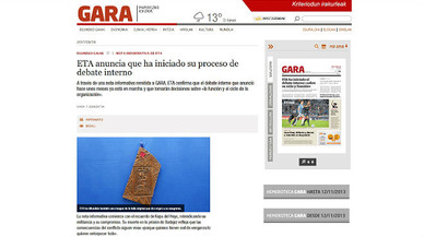 ETA es fixa com a objectiu impulsar el dret a decidir a Euskadi