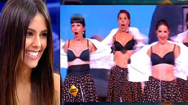 Cristina Pedroche presentó a las alegres sardanistas, en el programa 'Tú sí que sí', de La Sexta.