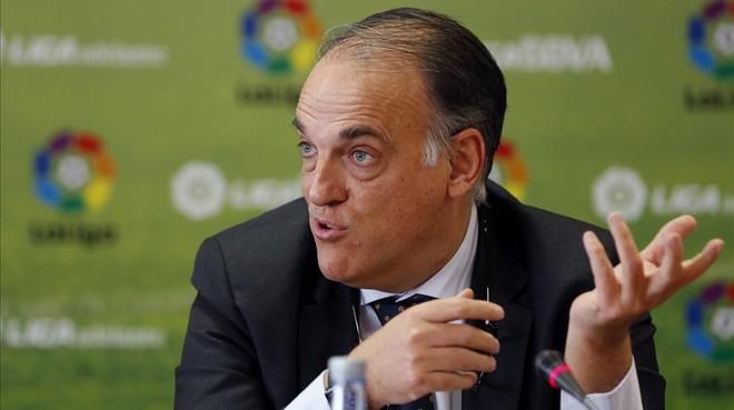 Tebas est� seguro del ama�o del partido Espanyol-Osasuna de hace dos temporadas
