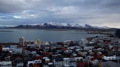 Vista de Reikiavic, la capital de Islandia.
