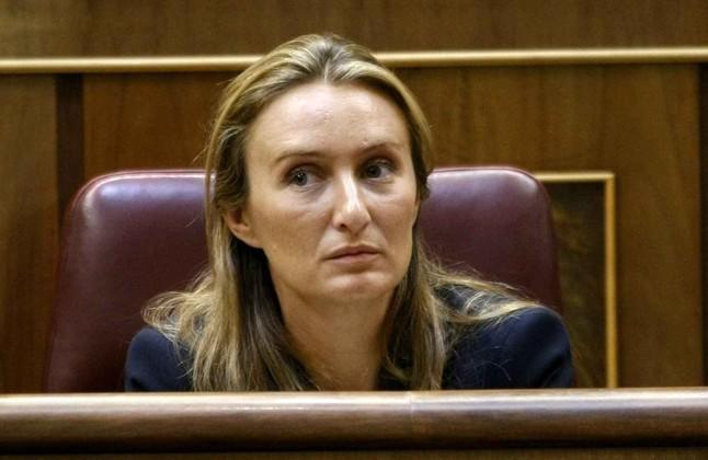 Andrea Fabra, este martes, en el Pleno del Congreso de los Diputados