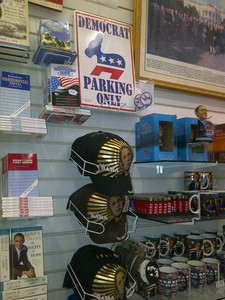 'Gadgets' dedicados a Obama, en una tienda de Washington.