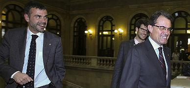 Santi Vila, izquierda, y Artur Mas, el pasado mayo.