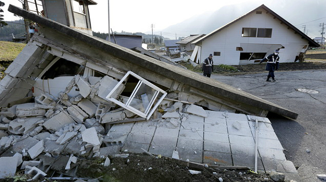 Im�genes del terremoto de 6,7 grados Richter en el centro de Jap�n.