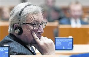 Jean-Claude Juncker, el pasado miércoles, en el Parlamento Europeo.