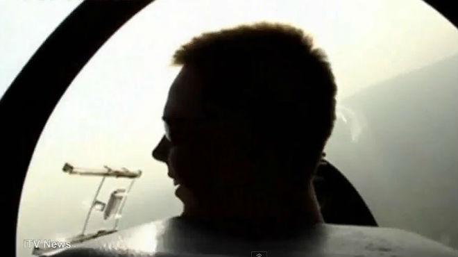 El copiloto de Germanwings Andreas Lubitz haciendo pr�cticas de vuelo