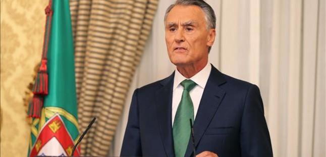 Cavaco Silva, el 6 de octubre, después de reunirse con Passos Coelho.