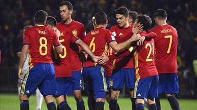 Espanya goleja amb ofici Macedònia